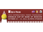 Kremlin Cup in Moscow, Russia, starts October 15, 2012