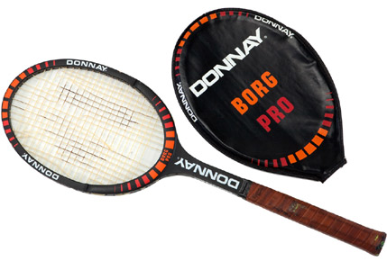 bjorn borg 39 s 1980 wimbledon donnay racket for sale tennis now. Black Bedroom Furniture Sets. Home Design Ideas
