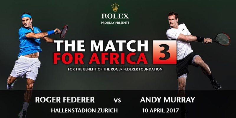 Video: Federer and Murray Play Match for Africa 3 in Zurich