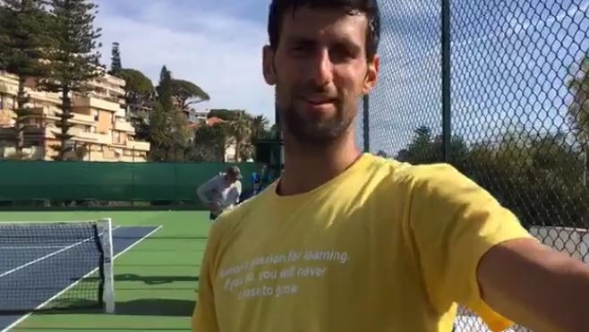 Novak Djokovic Gets a Talking to from Wife Jelena on FB Live