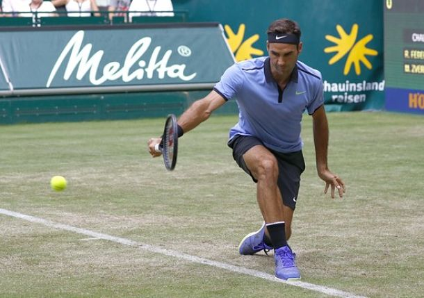 Federer Two Steps from Ninth Halle Title