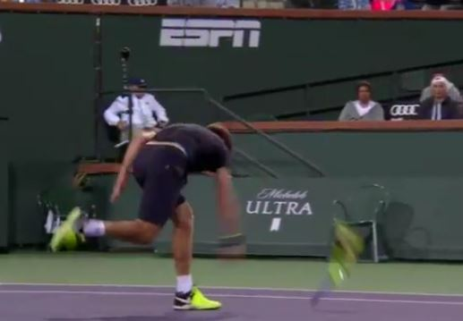 Video: Ryan Harrison Goes on a Racquet-Smashing Spree