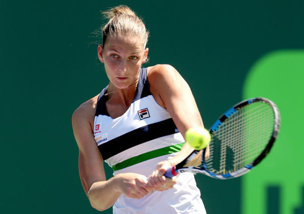 Pliskova Powers into Semis