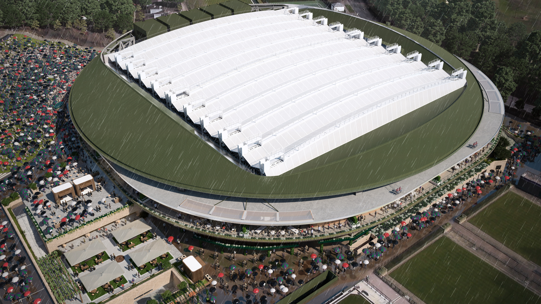 Roof over Wimbledon No.1 Court will be ready by 2019