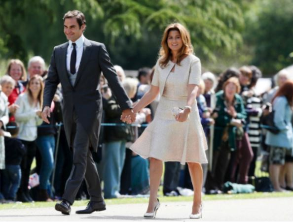 Federer, Mirka Looking Lovely at Pippa Middleton's Wedding