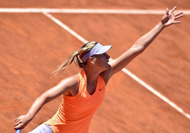 Sharapova Wins Rome Opener