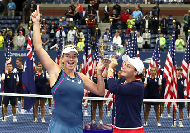 Barty and Vandeweghe Save 3 Match Points to Win U.S. Open Doubles Title