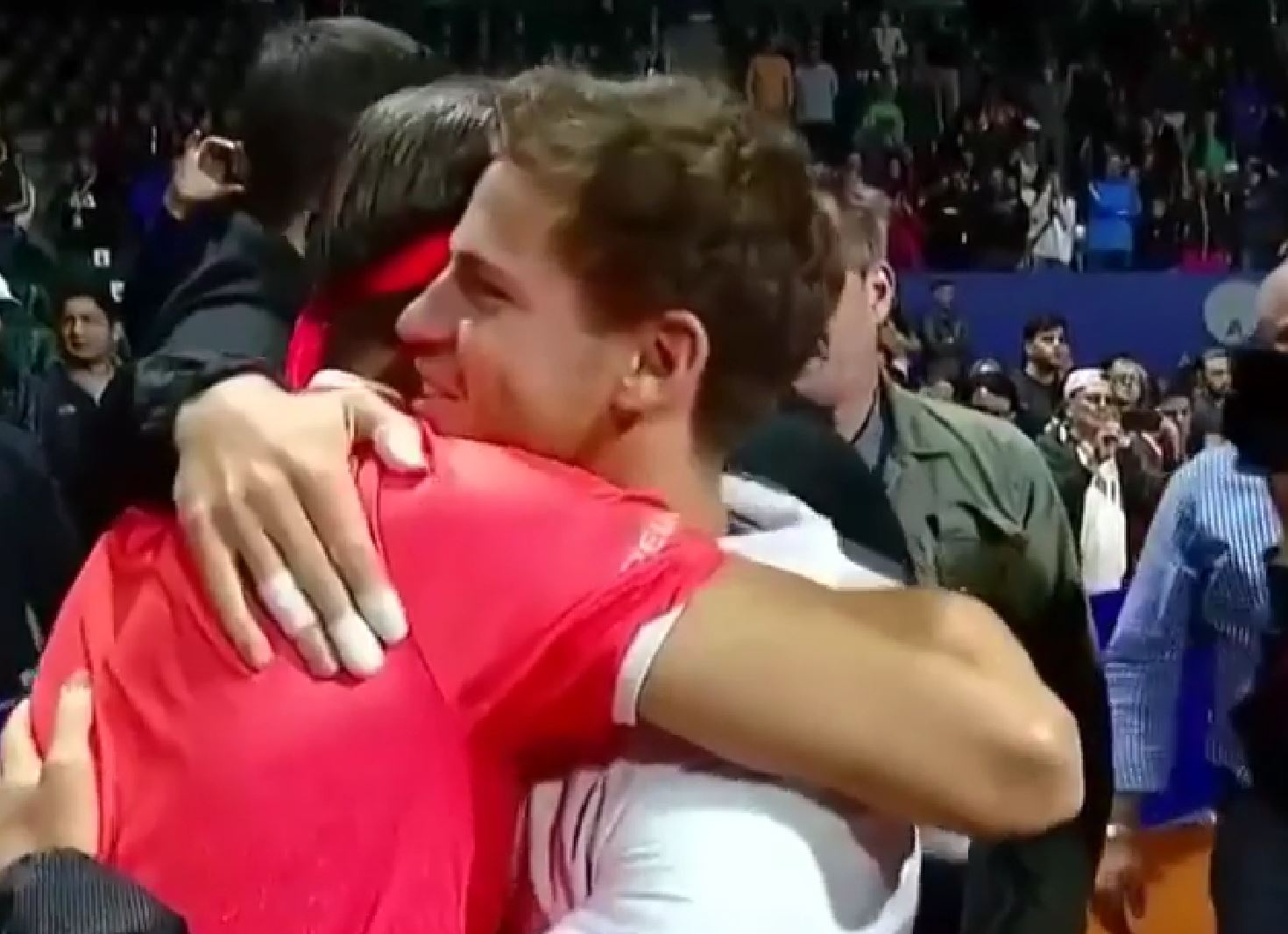 David Ferrer is Celebrated--and Hugged--in Tribute at Buenos Aires