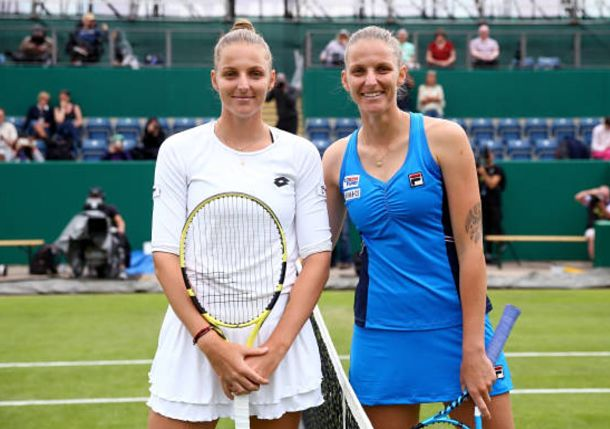 Kristyna Pliskova Wins Historic Battle of Twins in Birmingham