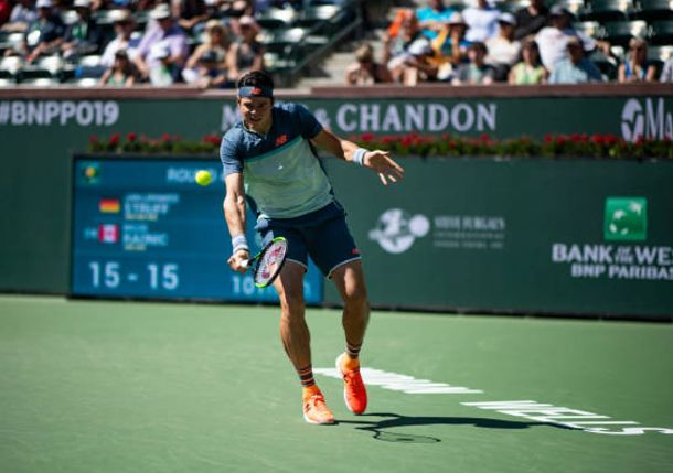 Raonic Stops Kecmanovic and Reaches Indian Wells Semis