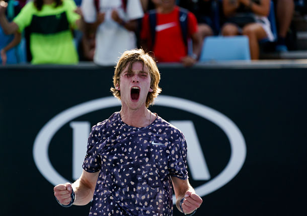 Red-Hot Rublev Wins Again, Tsitsipas Stunned in Rotterdam