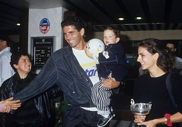 Celebrating Andres Gomez Historical Triumph at Roland Garros in 1990