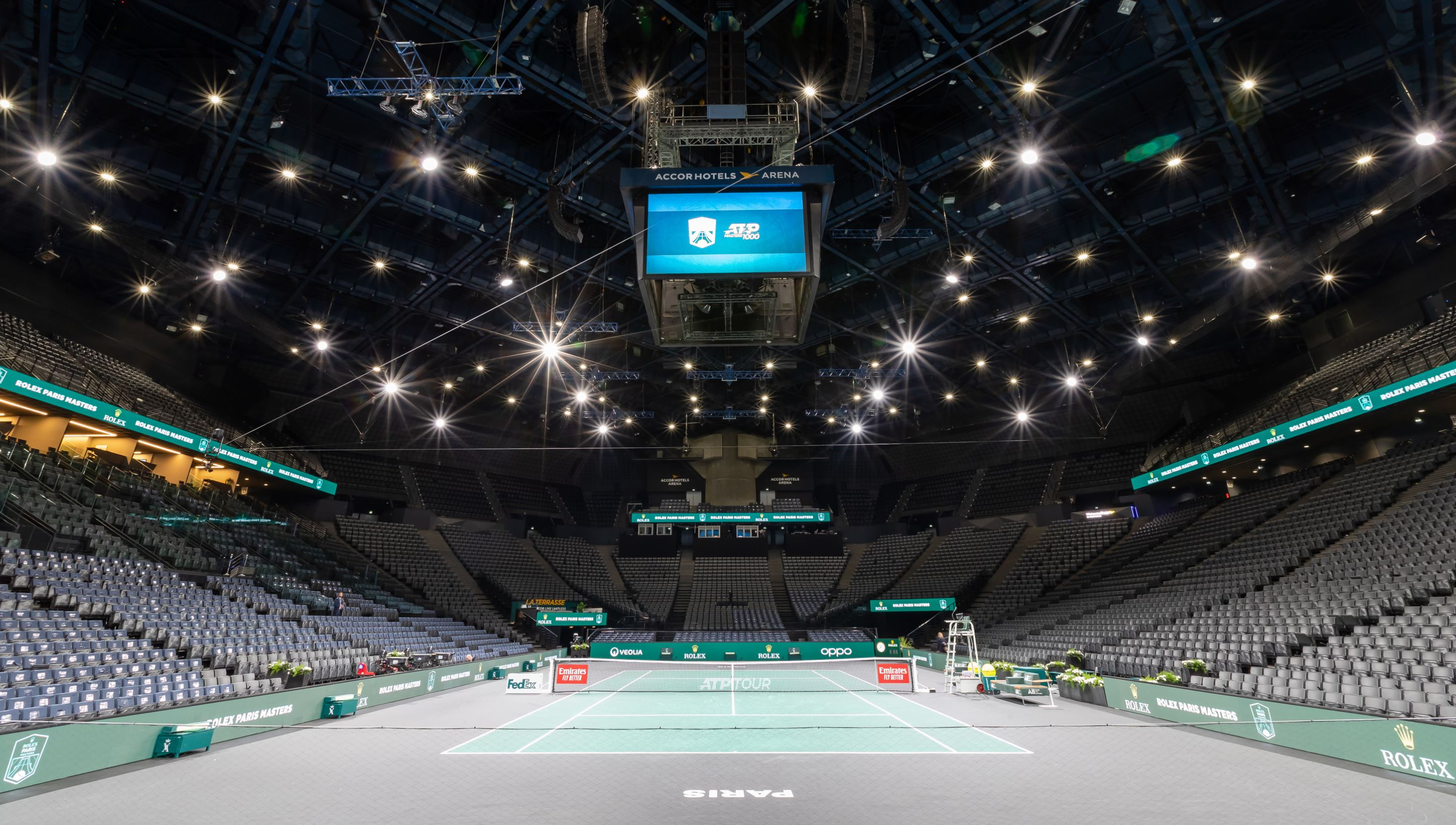 No Fans For Rolex Paris Masters