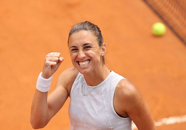 Petra Martic, with Francesca Schiavone at Her Side, is Rolling in Rome