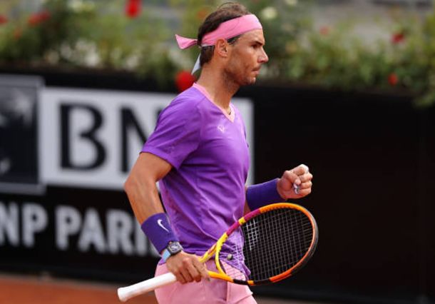 Nadal Back on Track, Pushes Past Sinner in Rome