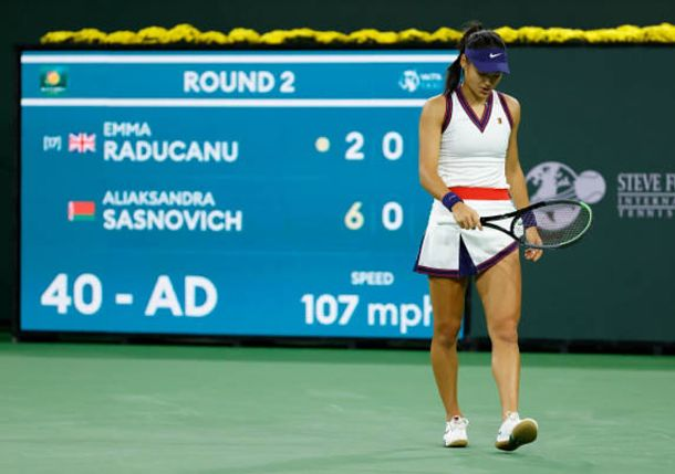Not to be for Raducanu, Who Falls to Sasnovich in First Match Since US Open Triumph